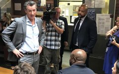 Newsom visits campus to talk to students