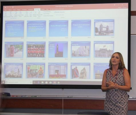 History Professor Diana Reed spoke in the Orchard Room about the different studying abroad opportunities in 2020.