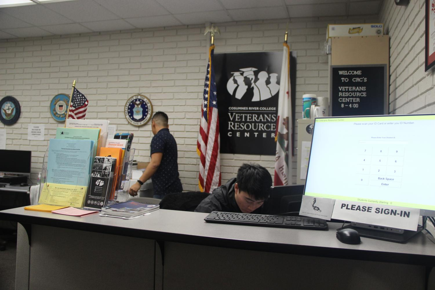 The Veteran Resource Center, located in L-103, gives student veterans a space to acquire various types of resources. To qualify for services provided by the VRC, students must bring a DD-214 form to prove their years of service.
