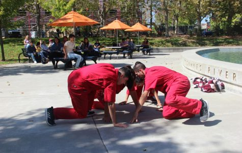 Primera Generacion perform in the quad on Sept. 26. During the performance, the group used dance to visually represent discrimination and the border crisis.