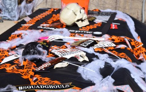 Free candy was offered inside some Halloween baskets. Hawk-O-Ween, which was held in the quad on Oct. 31, featured Halloween-inspired tables that were set up in the quad.