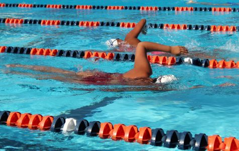 The women's swim team swam for an hour on Thursday during their swim-a-thon fundraiser. The fundraiser aimed to raise money for the team, which would cover expenses such as travel costs or equipment needed for the swimmers to train.