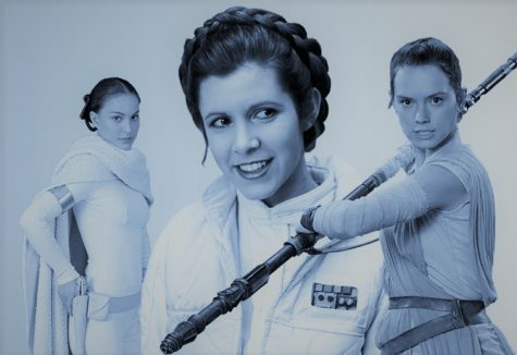"From left to right: Natalie Portman, Carrie Fisher and Daisy Ridley all played leading roles in the ""Star Wars"" series. However, not all fans of the franchise are happy that women are in the series at all."