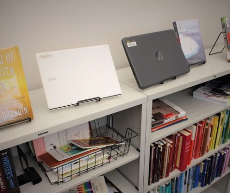 The campus library provides more than literature, in addition to books, knowledgeable staff  and the computer lab, chromebooks and select text books are also available for checkout for the duration of the semester in which students are enrolled.