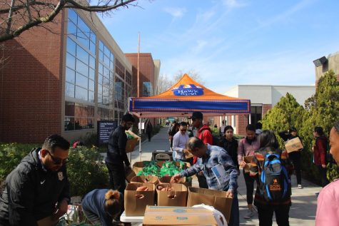 Every Thursday, the Hawk Cares Program hosts Hawk Spot where students, staff and faculty can go get fresh produce. This is one of many services that the program provides to our CRC community.