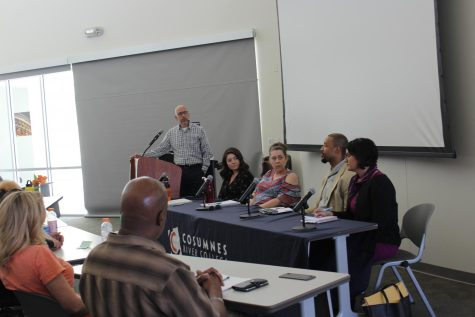 Professor Alex Peshkoff kicked off the event by introducing the panel of speakers. The speakers discussed the issues that formerly incarcerated students face. The event took place on Wednesday in Winn 150.
