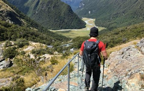 Cosumnes River College Department Chair of Counseling and Professor Ray Mapeso shares this photo of him from a hiking trail in New Zealand called the Milford Track. In total, it was a 70-mile hike and it took a total of four days.