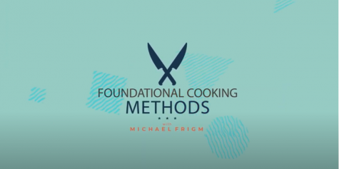 "Culinary Arts Professor Michael Frigm hosts his own cooking program on SECC on Tuesdays. The show, named ""Foundational Cooking Methods,"" also has it"