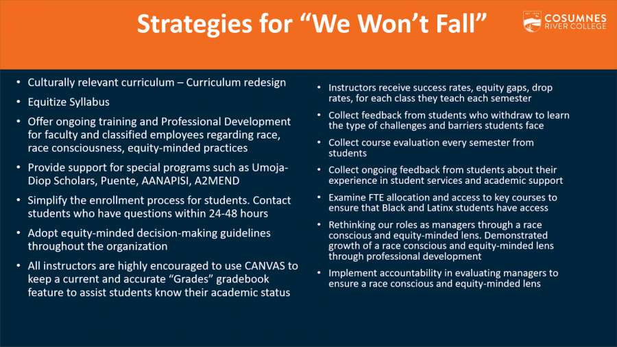 Campus President provides an update on the 'We Won't Fall' campaign