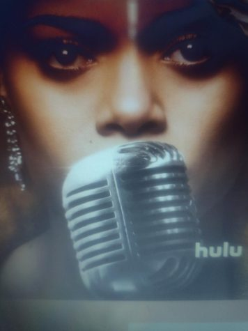 "The film cover of ""The United States vs Billie Holiday"". The film is now streaming on Hulu."