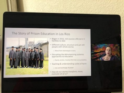 The Re-Emerging Scholars Program hosts an incarcerated student programs discussion with other panelists on March 17. The panelists discuss the prison education system for the Los Rios colleges as well as sharing their own personal stories.