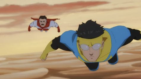 "A clip from the animated T.V. series ""Invincible."" ""Invincible"" premiered on March 26 and is now streaming on Amazon Prime."