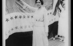 Photo of women's activist Alice Paul. Paul was a prominent figure in the fight for women's suffrage.