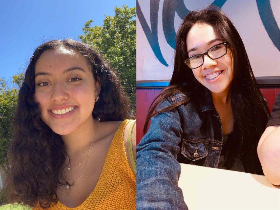The winners of the CRC Student Election: Sarai Argueta and Ariana Sandoval. Argueta won the position for Student Senator and Sandoval won the position for Secretary.