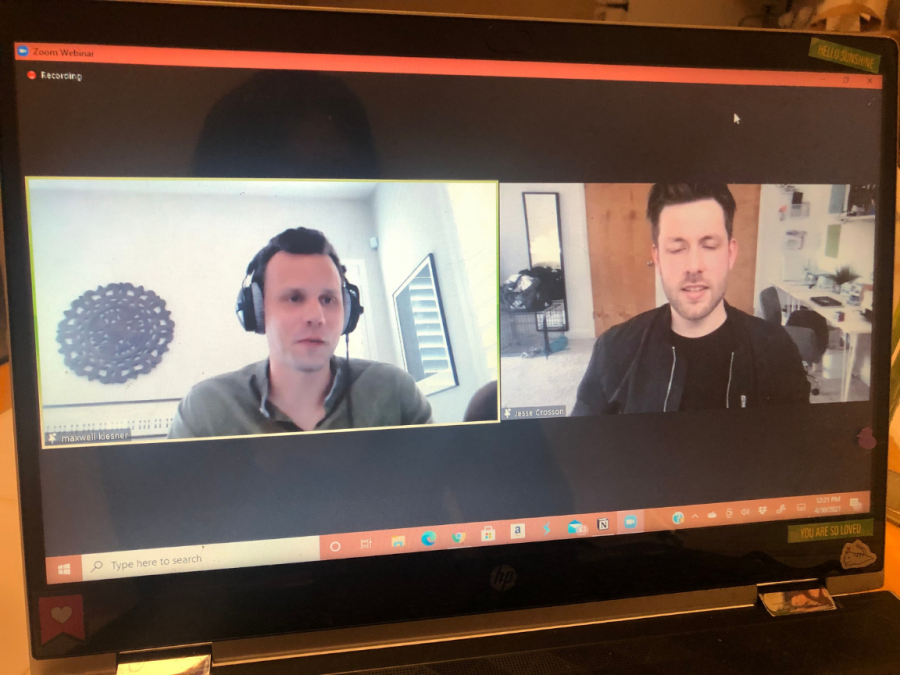 The In the Studio series held a Zoom webinar featuring singer Jesse Crosson of the band The Color Wild on April 30. Music Professor Maxwell Kiesner and Crosson discuss Crossons musical interests as well as his songwriting process.