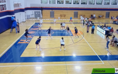 The Cosumnes River College womens volleyball team plays against Ohlone College on Sept. 15. The Hawks won in three sets, with each of them being 25-16, 25-22 and 27-25.