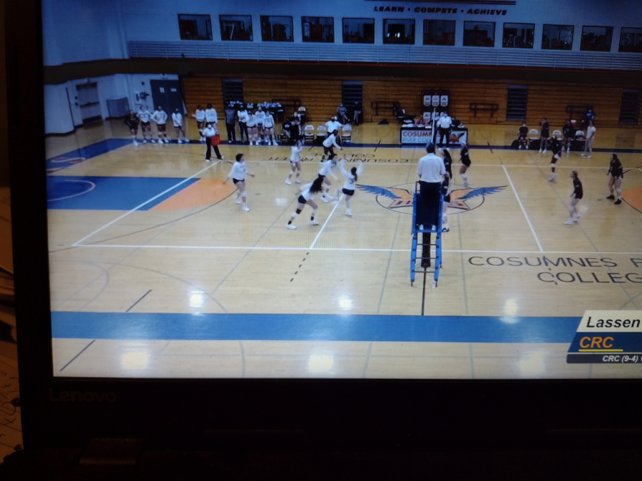 The Cosumnes River College womens volleyball team plays against Lassen Community College on Friday. The Hawks defeat Lassen with the first set 25-14 and third set 25-13.